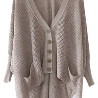 Oasap 2014 Solid Color High-low Cardigan 79% off retail