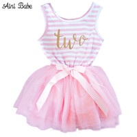 Aini Babe Toddler Baby Dress Princess First Communion baptism Children Clothes 1 Year Birthday Baby Girls Dresses Infant 2 year