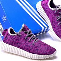 """Fashion """"Adidas"""" Yeezy Boost Solid color Leisure Sports shoes Purple"""