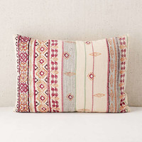 Agda Printed Yarn Pillow   Urban Outfitters