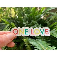 One Love Sticker,VSCO Sticker,Laptop Decal,Cute Stickers,Water Bottle Stickers,Macbook Stickers,Hydro Flask,Laptop Sticker,Best Friend Gift
