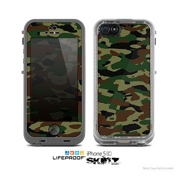 The Traditional Camouflage Skin for the Apple iPhone 5c LifeProof Case