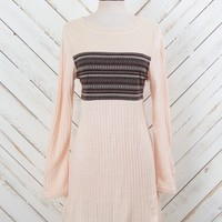Altar'd State Ribbed Knit Sweater Dress In Cream   Altar'd State