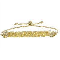 Braided Bolo Bracelet in 14k Yellow Gold (Adjustable)