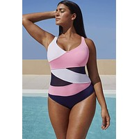 Patchwork Swimwear One Piece Swimming Suits Bathing Suit Swim Wear Swimsuits