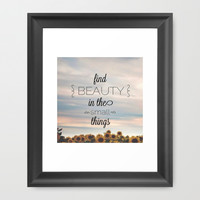 beauty in small things. Framed Art Print by Pink Berry Patterns