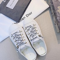 Dior new double-sided three-dimensional embroidery shoes