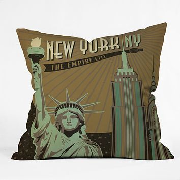 Anderson Design Group New York Throw Pillow
