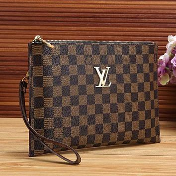 Prada Louis Vuitton LV Women Fashion Clutch Bag Handbag Tote Satchel
