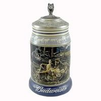 Anheuser-Busch GENERATIONS STEIN Ceramic Wolf Pack 2Nd Forest Budweiser CS506
