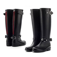 DCCKGQ8 pvc women rain boots girls ladies rubber shoes for casual walking hunting hunter outdo  number 1