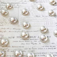 Pearl Magnets or Pushpins, Magnets, Pushpins, Cream Pearl Magnets or Pushpins, Decorative Pushpins, Decorative Magnets, Wedding Favors