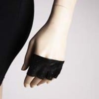 Mini Fingerless Leather Gloves