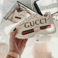 Gucci Sneaker's latest co-branded retro trend daddy shoes casual jogging shoes #5