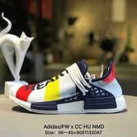 Pharrell Williams X Adidas Pw CC Hu Human Race Nmd Women Men White Yellow Red  Boost Sport Running Shoes