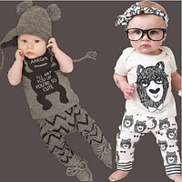 summer cotton children's clothing boys short sleeve baby girl clothes newborn clothes suit baby clothes for boy