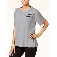 Material Girl Active Juniors Not Today Graphic T-Shirt.