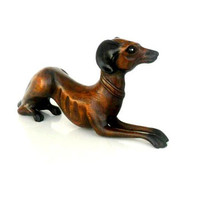 """Wooden Dog, Dog figurine, wooden animals, wooden dogs, dog toy, gift idea, Wood Carving Dog, Home Art Decor, Gift 19"""" x 9"""" x 3.5"""""""