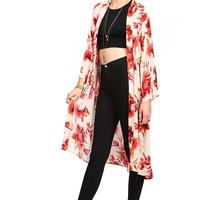 Autumn Bloom Chiffon Cardigan