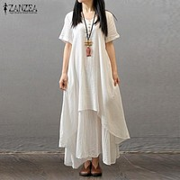 Elegant Loose Solid Long Maxi Dress