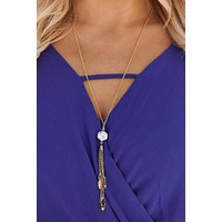 Sammy Tassel Necklace (White)