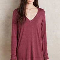 Pure + Good Long Weekend Tee in Red Size:
