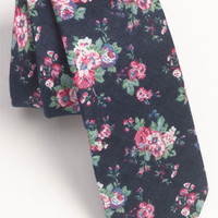 Topman Floral Print Chambray Woven Tie | Nordstrom