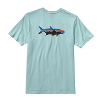 Patagonia Men's Fitz Roy Tarpon Cotton T-Shirt- Tubular Blue