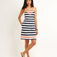 Shop Nautical Stripe Embroidered Dress at vineyard vines