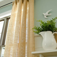 "Burlap Curtain 40"" wide Rustic"