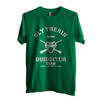 SEEKER Slytherin Quidditch team Men Tshirt on Kelly Green color