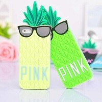 Victoria/s Secret PINK 4s 5s Case 3D Silicone Fashion Fruit Pineapple Star's Love Soft Cover for iphone 5 5s 5g 4 4s Case Cover-in Phone Bags & Cases from Phones & Telecommunications on Aliexpress.com | Alibaba Group