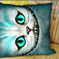 Cheshire Cat Alice in Wonderland - Pillow Cover and Pillow Case.
