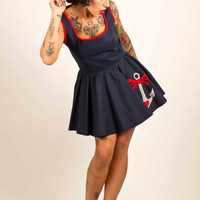 Rockabilly Style Dress Nautical Dress with Anchor by Dollydripp