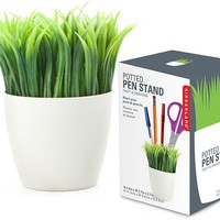 Potted Grass Pen Stand