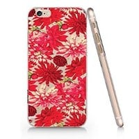 Flower Pattern Transparent Plastic Phone Case for Iphone 6