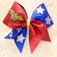 Wonder Woman Cheer Bow by cheerbowsandarrows on Etsy