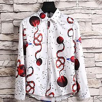Gucci Men or Women Fashion Casual Buttons Shirt