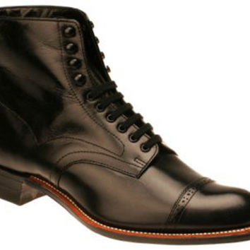 Mens Lace Up Boots - Black Leather
