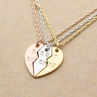 BEST BITCHES Heart Necklace set of 3.