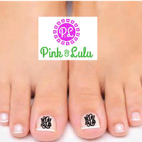 Monogram Mani/Pedi Decals