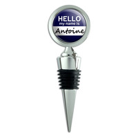 Antoine Hello My Name Is Wine Bottle Stopper