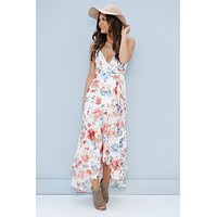 Head Over Heels Floral Maxi Dress (Ivory)
