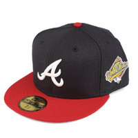 5950 Atlanta Braves 1996 World Series Side Patch Fitted Cap