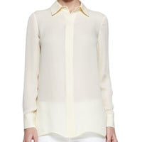 Vince Georgette Button-Down Blouse & Dylan Slim Ankle Jeans