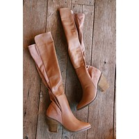 Orson Tall Faux Leather Heeled Boot, Taupe