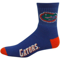 NCAA Florida Gators Team Quarter Socks, Large