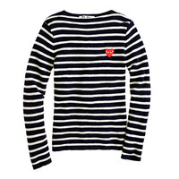 J.Crew Womens Play Comme Des Garcons Striped Sweater