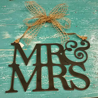 Mr & Mrs  Wedding Decor