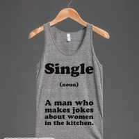 Single (Noun)-Unisex Athletic Grey Tank